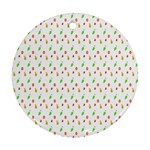 Fruit Pattern Vector Background Ornament (Round)  Front