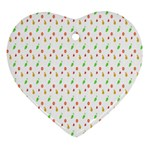 Fruit Pattern Vector Background Ornament (Heart)  Front