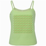 Fruit Pattern Vector Background Green Spaghetti Tank Front