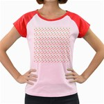 Fruit Pattern Vector Background Women s Cap Sleeve T-Shirt Front