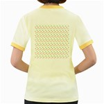 Fruit Pattern Vector Background Women s Fitted Ringer T-Shirts Back