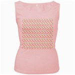 Fruit Pattern Vector Background Women s Pink Tank Top Front
