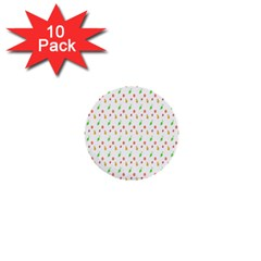 Fruit Pattern Vector Background 1  Mini Buttons (10 pack)