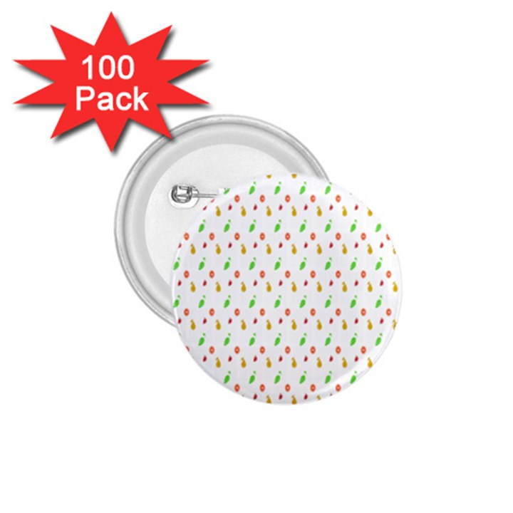 Fruit Pattern Vector Background 1.75  Buttons (100 pack)
