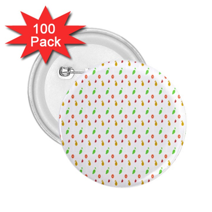 Fruit Pattern Vector Background 2.25  Buttons (100 pack)