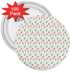 Fruit Pattern Vector Background 3  Buttons (100 pack)  Front