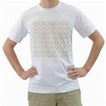 Fruit Pattern Vector Background Men s T-Shirt (White) (Two Sided) Front