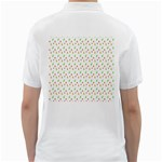 Fruit Pattern Vector Background Golf Shirts Back