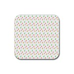 Fruit Pattern Vector Background Rubber Square Coaster (4 pack)  Front