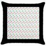 Fruit Pattern Vector Background Throw Pillow Case (Black) Front
