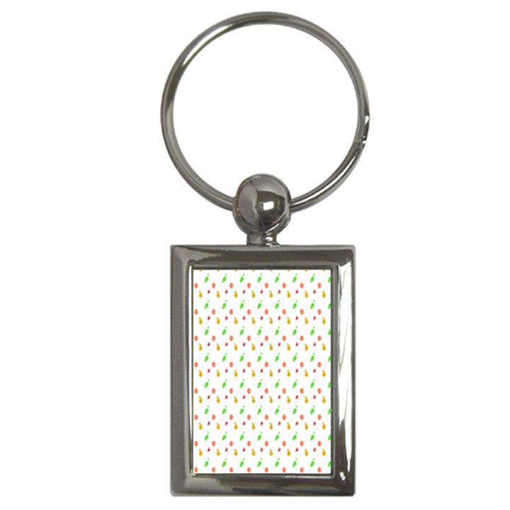 Fruit Pattern Vector Background Key Chains (Rectangle)