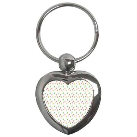 Fruit Pattern Vector Background Key Chains (Heart)