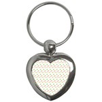 Fruit Pattern Vector Background Key Chains (Heart)  Front