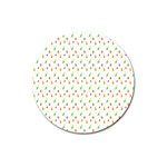 Fruit Pattern Vector Background Magnet 3  (Round) Front
