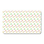 Fruit Pattern Vector Background Magnet (Rectangular) Front