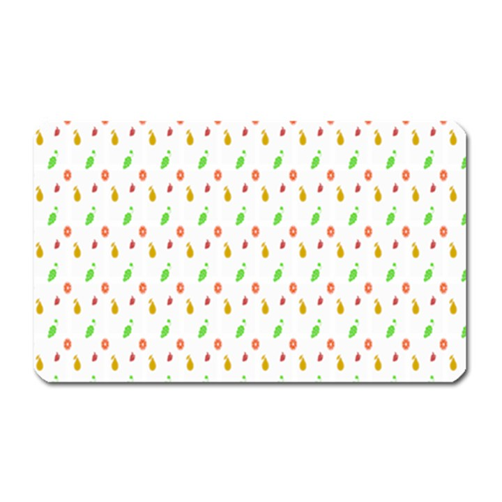 Fruit Pattern Vector Background Magnet (Rectangular)