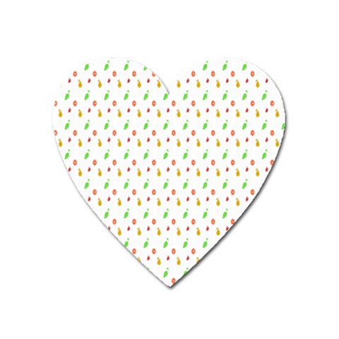 Fruit Pattern Vector Background Heart Magnet