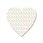 Fruit Pattern Vector Background Heart Magnet Front