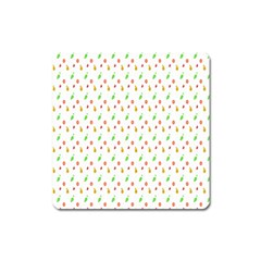 Fruit Pattern Vector Background Square Magnet