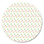 Fruit Pattern Vector Background Magnet 5  (Round) Front