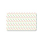 Fruit Pattern Vector Background Magnet (Name Card) Front