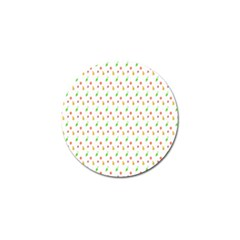 Fruit Pattern Vector Background Golf Ball Marker