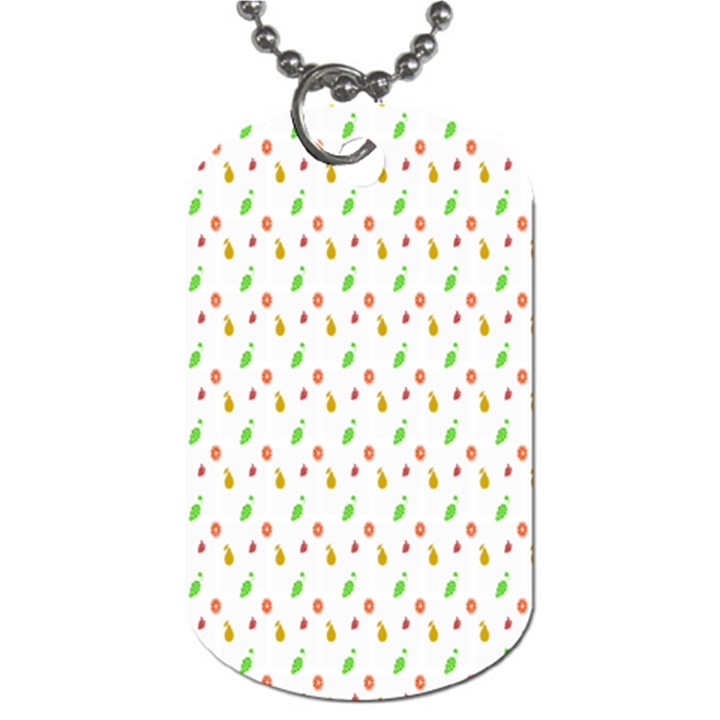 Fruit Pattern Vector Background Dog Tag (Two Sides)