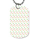 Fruit Pattern Vector Background Dog Tag (Two Sides) Back