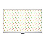 Fruit Pattern Vector Background Business Card Holders Front