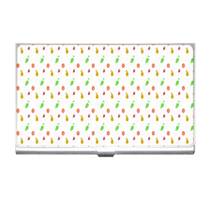 Fruit Pattern Vector Background Business Card Holders