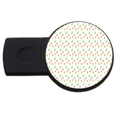 Fruit Pattern Vector Background USB Flash Drive Round (2 GB)