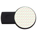Fruit Pattern Vector Background USB Flash Drive Round (1 GB)  Front