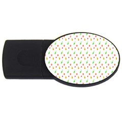 Fruit Pattern Vector Background USB Flash Drive Oval (2 GB)