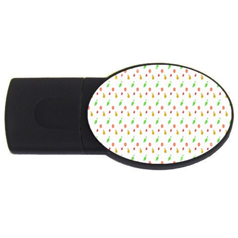 Fruit Pattern Vector Background USB Flash Drive Oval (1 GB)