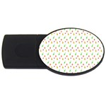 Fruit Pattern Vector Background USB Flash Drive Oval (1 GB)  Front