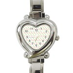 Fruit Pattern Vector Background Heart Italian Charm Watch Front