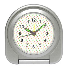 Fruit Pattern Vector Background Travel Alarm Clocks