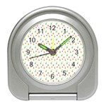 Fruit Pattern Vector Background Travel Alarm Clocks Front