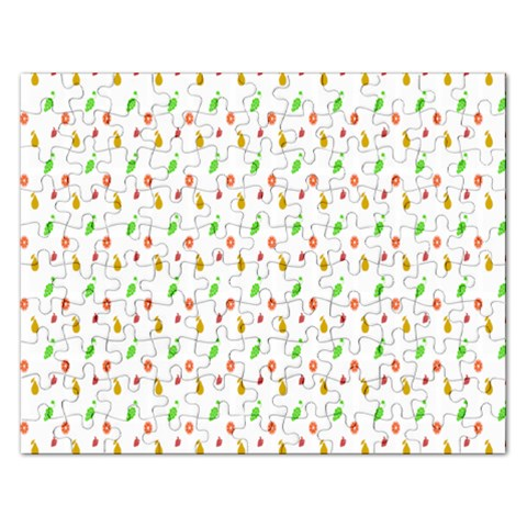 Fruit Pattern Vector Background Rectangular Jigsaw Puzzl