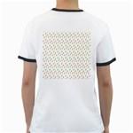 Fruit Pattern Vector Background Ringer T-Shirts Back