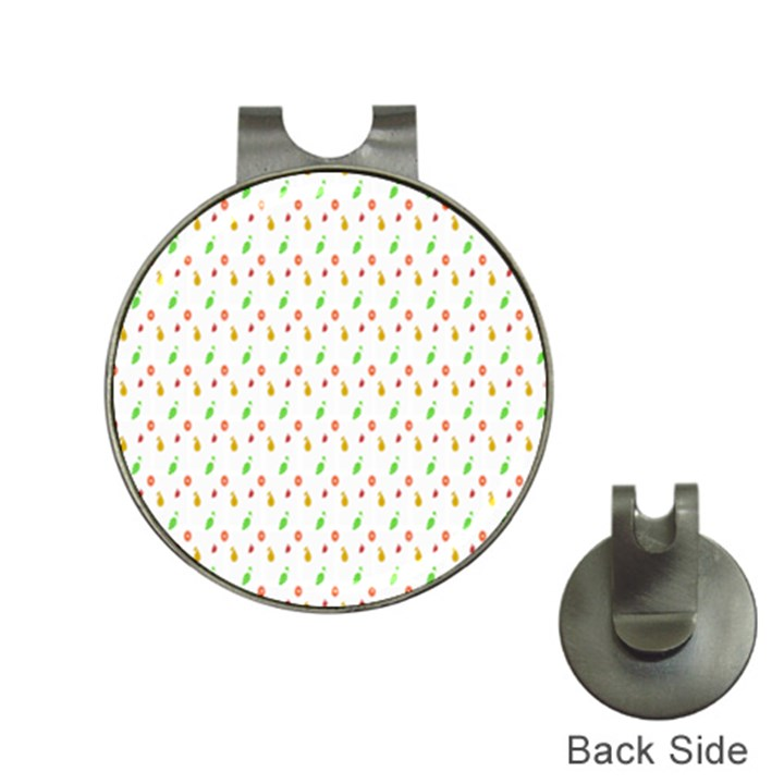 Fruit Pattern Vector Background Hat Clips with Golf Markers