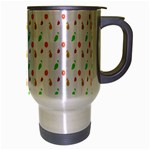 Fruit Pattern Vector Background Travel Mug (Silver Gray) Right