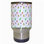 Fruit Pattern Vector Background Travel Mugs (White) Center