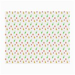 Fruit Pattern Vector Background Small Glasses Cloth Front