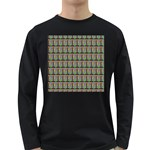 Fruit Pattern Vector Background Long Sleeve Dark T-Shirts Front
