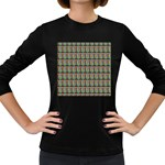Fruit Pattern Vector Background Women s Long Sleeve Dark T-Shirts Front