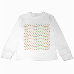 Fruit Pattern Vector Background Kids Long Sleeve T-Shirts