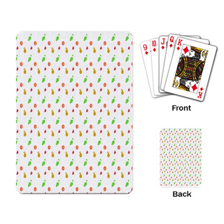 Fruit Pattern Vector Background Playing Card