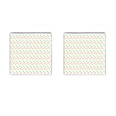 Fruit Pattern Vector Background Cufflinks (Square)