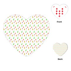 Fruit Pattern Vector Background Playing Cards (Heart)